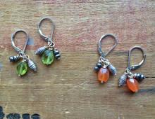 Gemstone Cluster Earrings