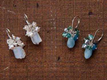 Gemstone Corsage Earrings-2