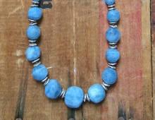 Aquamarine Boulder Necklace