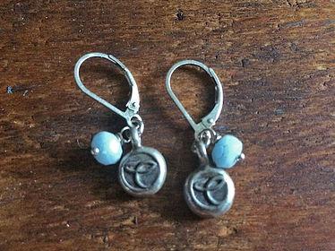 Gemstone Charmer Earrings Aquamarine