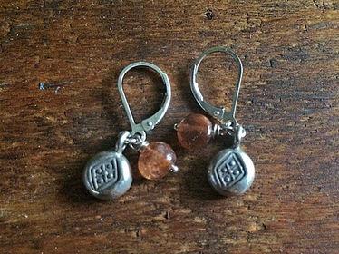 Gemstone Charmer Earrings Sunstone