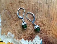 Ruffled Gemstone Earrings