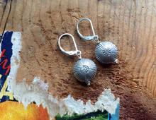 Stamped Silver Earrings