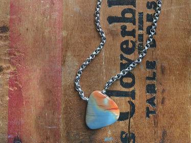 Painted Pendant Necklace