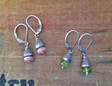 Gemstone Acorn Earrings