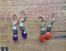Gemstone Droplet Earrings