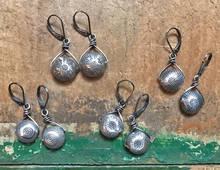 Wire-formed Silver Earrings