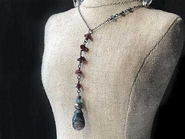 labradorite-garnet-zircon-thai silver-sterling silver-daisy chains jewelry