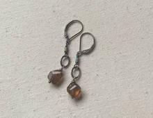 andalusite triple drop earrings