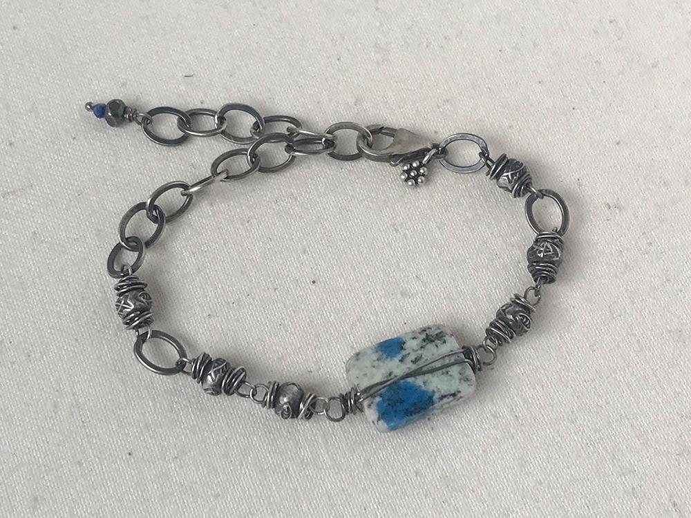 K2 wire-wrapped bracelet