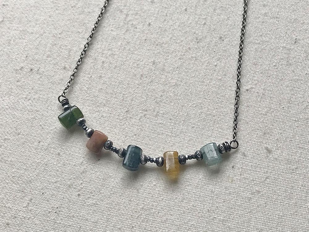 Multi-colored tourmaline necklace