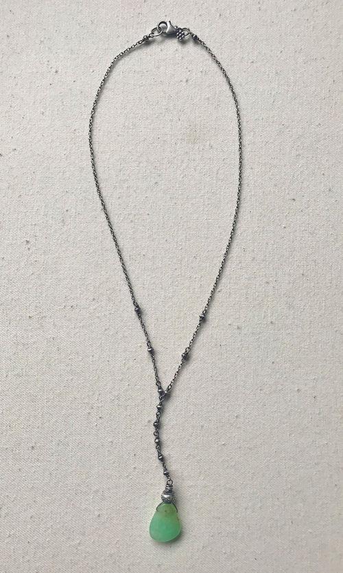 Chrysoprase Lariat Necklace