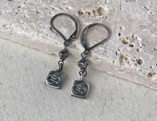 Silver Om Charm Earrings