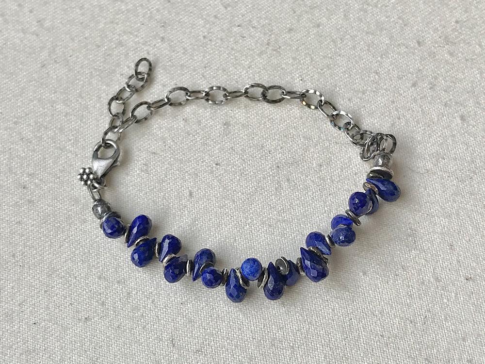 Lapis Briolette Bracelet