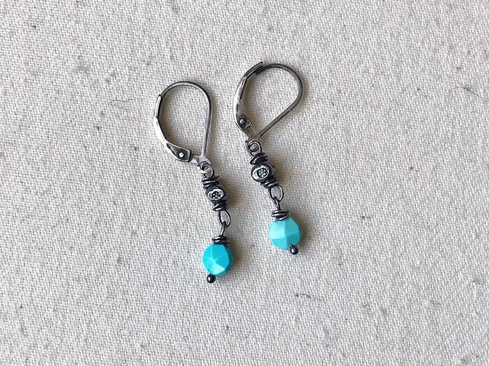 Sleeping Beauty Coin Earrings