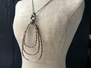 copper & sterling ring pendant