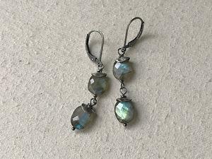 double labradorite earrings