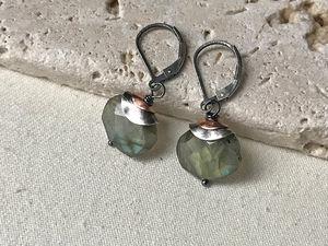 double topped labradorite earrings