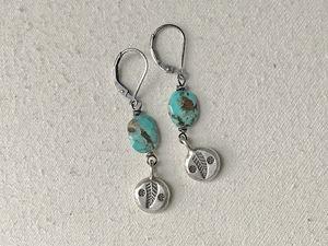 Kingman Turquoise Charm Earrings