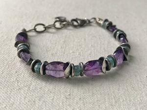 Amethyst & Zircon Hugs bracelet