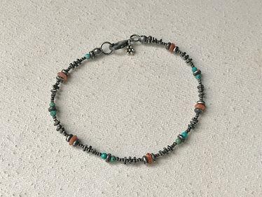 turquoise & sunstone bracelet