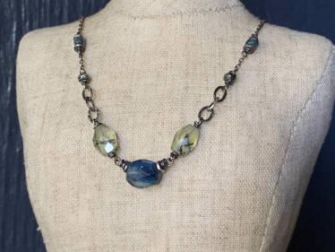 Prehnite & Kyanite Kaleidoscope Necklace