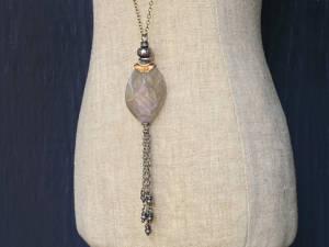 Purple labradorite fringe necklace