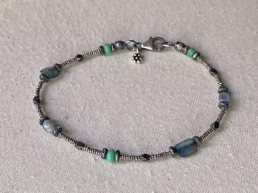 australian and green opal bracelet