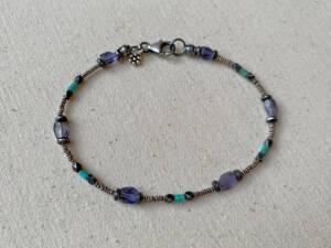 Iolite & Kingman Turquoise Bracelet