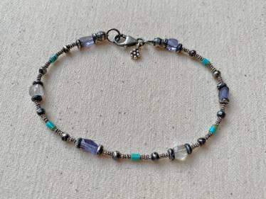 Iolite Turquoise moonstone Bracelet