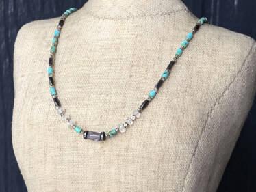 kingman turquoise kaleidoscope necklace