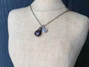 nested iolite charm pendant