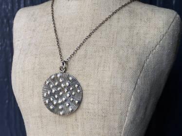 thai silver medallion pendant