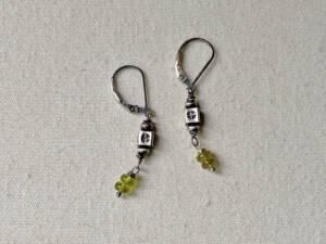 stamped thai silver earrings