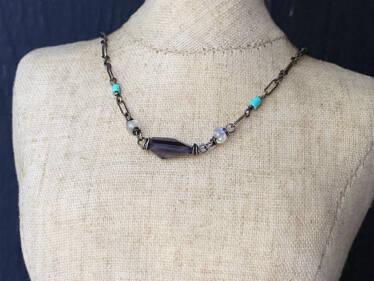iolite kaleidoscope necklace