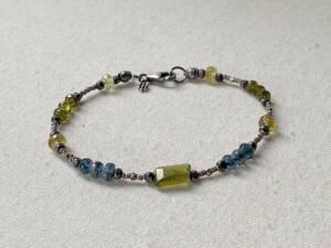 vesuvianite & kyanite bracelet