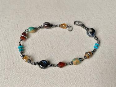 autumn pebble bracelet