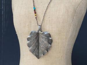 thai silver leaf pendant