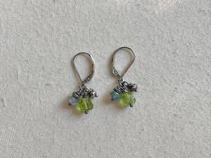 peridot cluster earrings