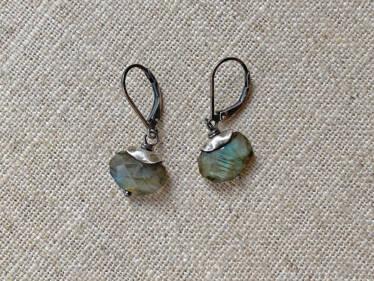 sterling topped labradorite earrings