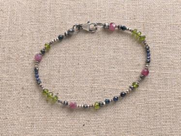 pink tourmaline and friends bracelet