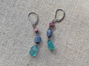 raw nugget earrings