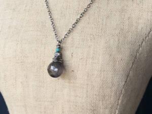 nested iolite pendant